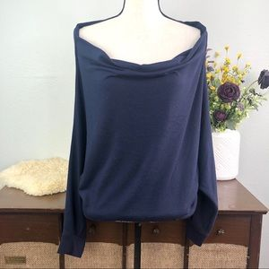 1 State off the shoulder cowl sweatshirt sweater